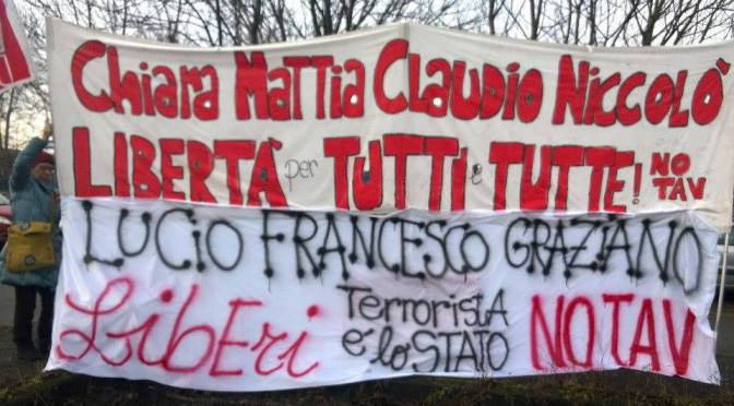 CROLLA L'ACCUSA DI TERRORISMO PER MATTIA, CHIARA, CLAUDIO E NICCOLO'