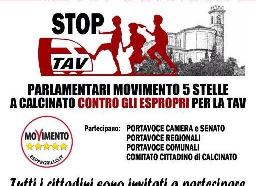 30 maggio: iniziativa parlamentari 5 stelle per iniziare a contrastare gli espropri di Calcinato!