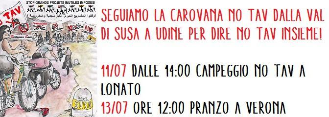 13/07 biciclettata NO TAV: da Lonato a Vicenza passando anche per Verona! Appuntamento alle 12:00 per pranzare insieme!