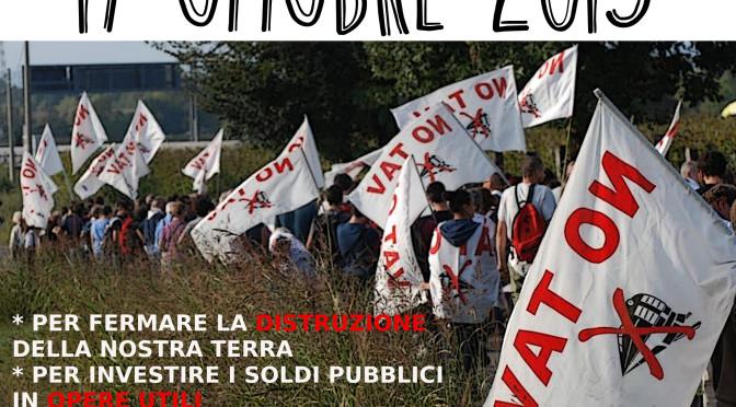 """17 OTTOBRE: """"ORA BASTA! FERMIAMO IL TAV!"""" – Marcia NO TAV a Desenzano del Garda"""