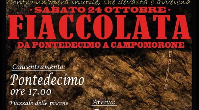 TERZO VALICO: La Valverde resiste e rilancia – sabato 24 ottobre fiaccolata NO TAV