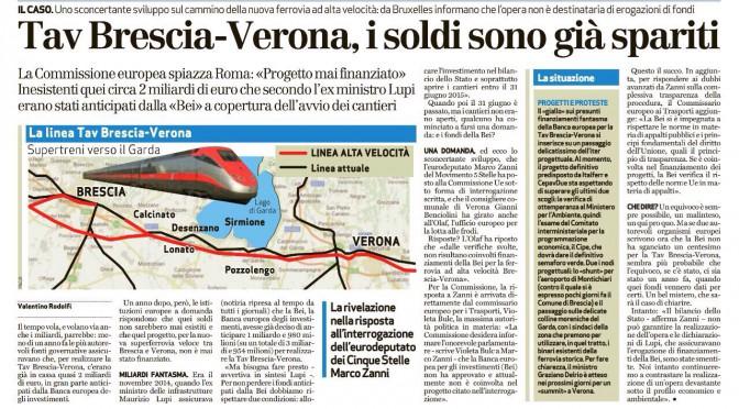 La Banca Europea non finanzierà il TAV Brescia-Verona!