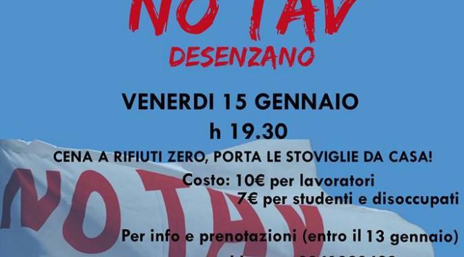 15/01: cena benefit del Comitato No Tav Desenzano @ CSO Zanzanù