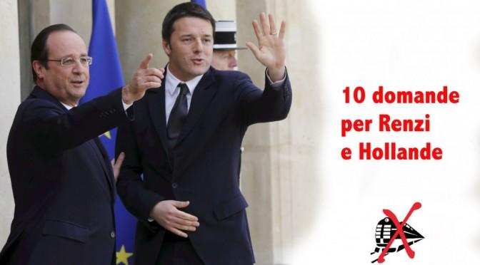 10 domande per Renzi e Hollande: saturiamoli!
