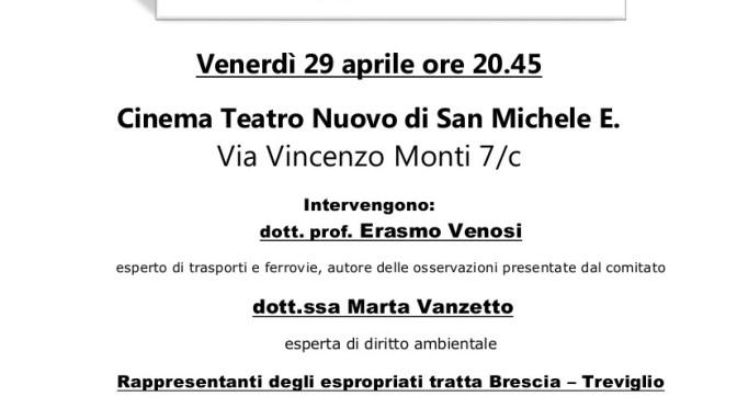 Montecchio, Verona e Vicenza: 3 appuntamenti per informarsi sul TAV!