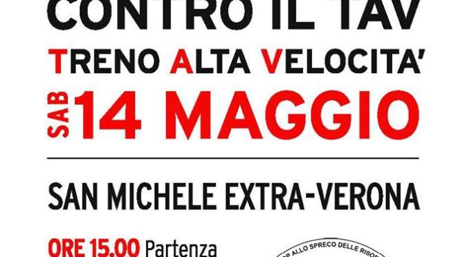 14/5: MARCIA CONTRO IL TAV @ VERONA! PARTECIPIAMO TUTTI E TUTTE PER DIRE #NOTAV