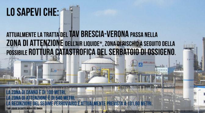 Air Liquide di Castelnuovo del Garda: l'ennesimo pericolo del TAV sottovalutato!