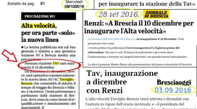 RFI smentisce Renzi: il 10 dicembre non ci sarà nessuna inagurazione! Ma noi #civediamoil10