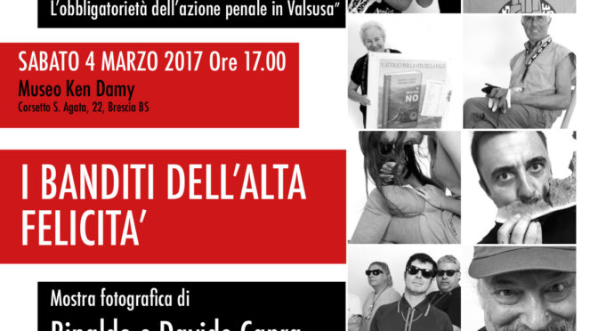 Carmine Resistente: dal 4 marzo mostra fotografica e incontro con i militanti della Val di Susa @ Brescia
