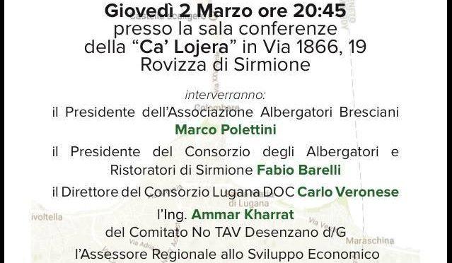 TAV e turismo sul Lago di Garda. Dibattito a Sirmione Giovedi 2 Marzo.