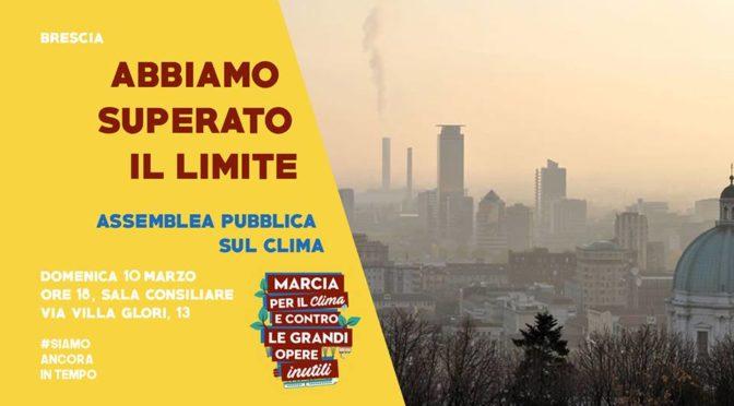 10/3 ore 18 assemblea pubblica sul clima @ Brescia