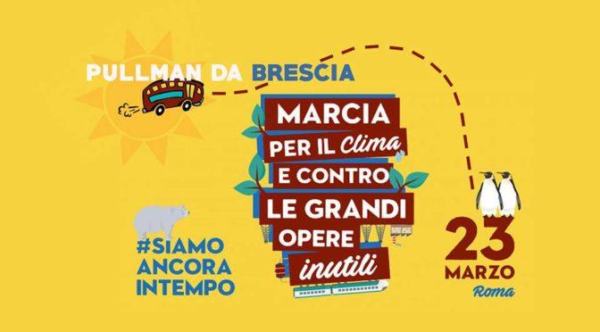 Pullman da Brescia a Roma: Marcia Per il Clima 23 marzo