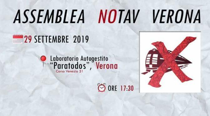 29/9 assemblea pubblica no tav @ Verona ore 17:30
