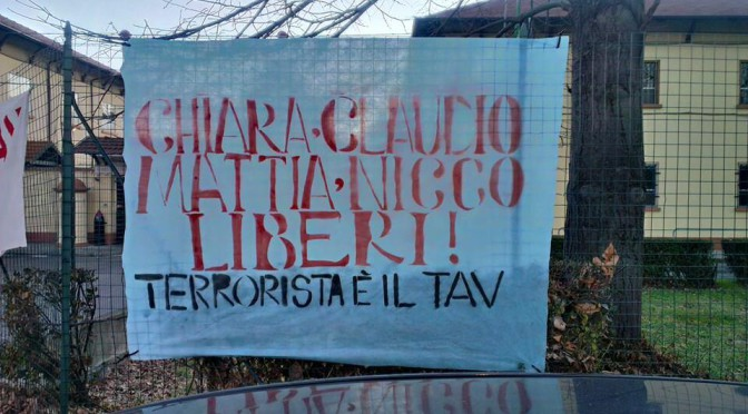 Lettera di Chiara, attivista No Tav, dal carcere delle Vallette