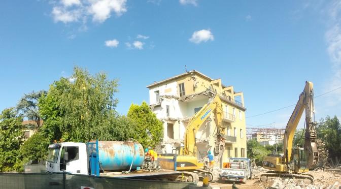 Un anno dopo gli abbattimenti delle case a Brescia per il TAV Treviglio-Brescia: cosa resta in via Toscana