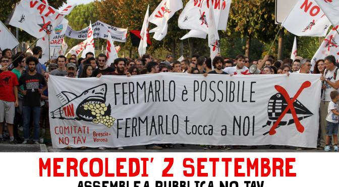 02/09: ASSEMBLEA PUBBLICA NO TAV @ San Martino della Battaglia – FERMIAMO IL TAV BRESCIA-VERONA DEFINITIVAMENTE!