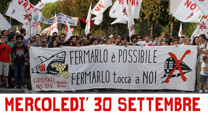 mercoledì 30/9 nuova assemblea pubblica NO TAV verso il 17 ottobre a Desenzano!