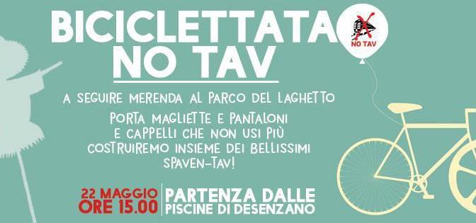 22/05 biciclettata NO TAV @Desenzano con laboratorio di spaventav, merenda, musica e danze!