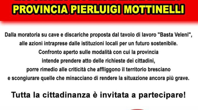 4/6 dalle 14:30 – AGORÀ Pubblica in Broletto @ Brescia – BASTA VELENI!