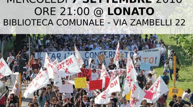 7 settembre: assemblea pubblica @ LONATO! COSTRUIAMO INSIEME L'AUTUNNO NO TAV!