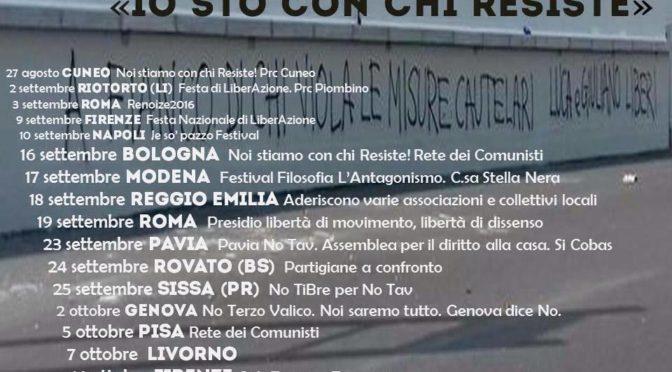"""DOMANI SERA TAPPA DEL NOTAVTOUR """"IO STO CON CHI RESISTE"""" AL C.S. 28 MAGGIO @ ROVATO"""