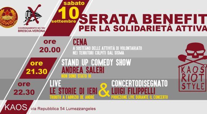 Serata Benefit Per La Solidarietà Attiva @KAOS di Lumezzane