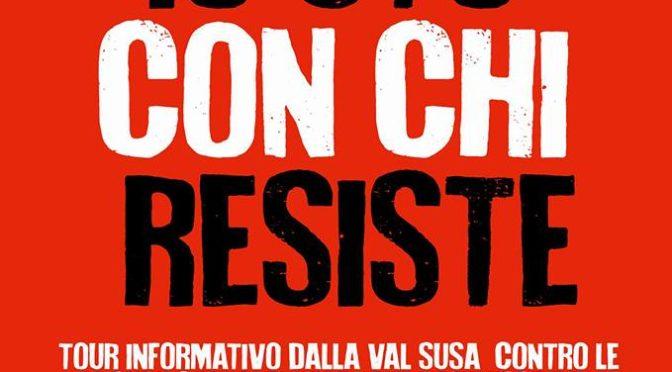 """07/01 @DESENZANO TAPPA DEL NO TAV TOUR """"Io sto con chi resiste"""""""