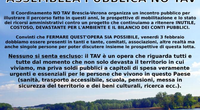 3 febbraio: assemblea pubblica NO TAV @ Peschiera del Garda! NESSUNO SI SENTA ESCLUSO!