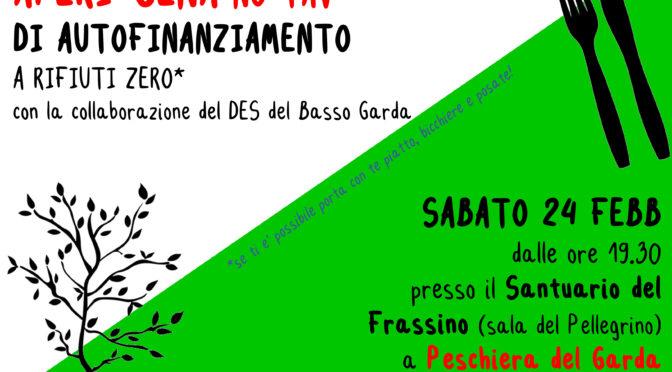24/2 APERICENA DI AUTOFINANZIAMENTO @SANTUARIO DEL FRASSINO A PESCHIERA DEL GARDA