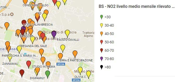 Pubblicati i risultati della campagna NO2 NO GRAZIE a Brescia e provincia. Il TAV? L'ennesimo fattore negativo per la qualità dell'aria!