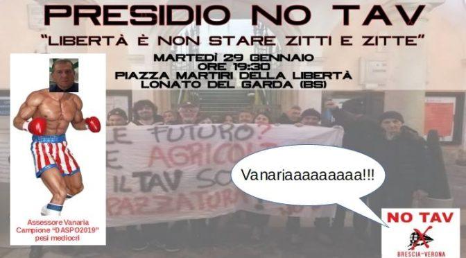 29/1 PRESIDIO NO TAV A LONATO: libertà è non stare zitti e zitte!