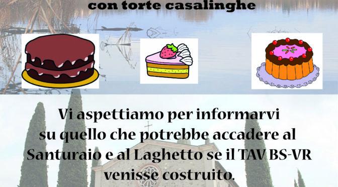 Sos Torte Per Banchetto Autofinanziamento No Tav domenica 17 marzo @ Santuario del Frassino – Peschiera
