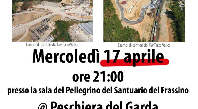 17 aprile: serata informativa e di aggiornamento a Peschiera – vi aspettiamo numerosi/e!