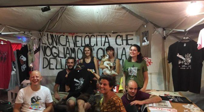Da questa sera fino al 24 agosto banchetto #notav @festa di radio onda d'urto a Brescia!