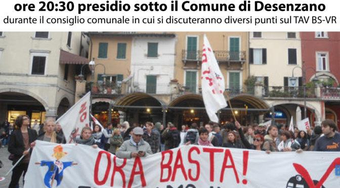 30/9 presidio #notav @consiglio comunale di Desenzano