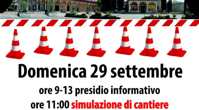 29/9 presidio #notav con simulazione di cantieri @Santuario del Frassino di Peschiera d/g
