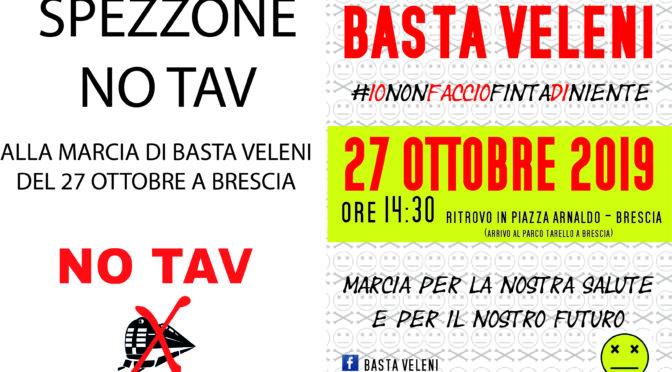 Spezzone NO TAV alla marcia di Basta Veleni del 27 ottobre a Brescia
