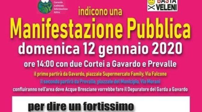 12/01: partecipiamo alla manifestazione contro il depuratore del garda sul fiume chiese!